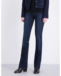 PAIGE Manhattan Slim-fit Bootcut Mid-rise Jeans