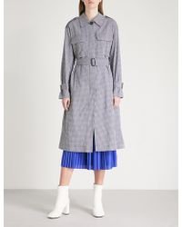 Mo&co. - Stretch Cotton Trench Coat - Lyst