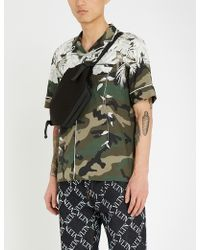 Valentino - Floral And Camouflage-print Cotton Shirt - Lyst
