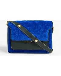Marni - Trunk Shearling And Leather Shoulder Bag - Lyst