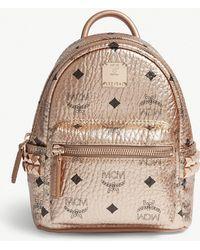 MCM - Metallic Stud-detailed Leather Mini Backpack - Lyst