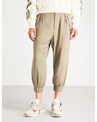 Izzue - High-rise Woven Trousers - Lyst