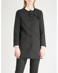 Claudie Pierlot - Griotte Bow-detail Woven Jacket - Lyst