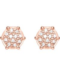 Thomas Sabo - Glam & Soul 18ct Rose Gold-plated And Diamond Earrings - Lyst