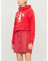 A Bathing Ape - University Cotton-jersey Hoody - Lyst