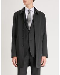 Canali - Shell-twill Trench Coat - Lyst