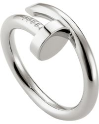 Cartier - Juste Un Clou Rhodium-plated White-gold Ring - Lyst