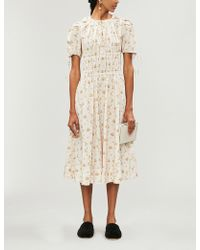 Brock Collection - Orsolina Floral-print Cotton Midi Dress - Lyst