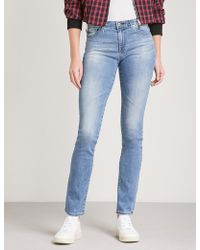 AG Jeans - Harper Straight Mid-rise Jeans - Lyst