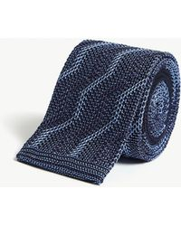 Richard James - Squared-off Zigzag Knitted Silk Tie - Lyst