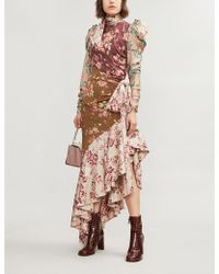 Zimmermann - Unbridled Tempest Asymmetric Cutout Floral-print Silk-blend Dress - Lyst