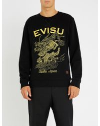 Evisu - Golden Dragon Cotton-jersey Sweatshirt - Lyst