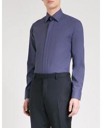 Eton of Sweden - Geometric-pattern Slim-fit Cotton Shirt - Lyst