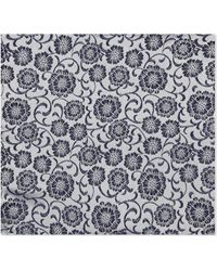 Duchamp - Floral Silk Pocket Square - Lyst