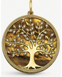 Thomas Sabo - Tree Of Love 18ct Yellow Gold-plated Pendant - Lyst