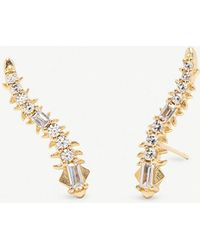 Kendra Scott - Sinclair 14ct Gold-plated Brass And Crystal Earrings - Lyst
