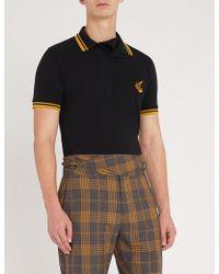 Vivienne Westwood Anglomania - Striped-trim Cotton-piqué Polo Shirt - Lyst