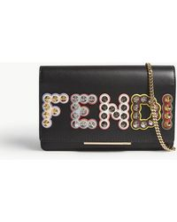Fendi | Embellished Leather Wallet-on-chain | Lyst