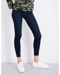 7 For All Mankind - Ladies Blue Ultra Light B(air) Super-skinny High-rise Jeans - Lyst
