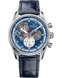 Zenith - 03.2040.4061/52.c700 El Primero 1969 Stainless Steel And Alligator Leather Watch - Lyst
