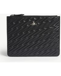 Vivienne Westwood - Coventry Quilted Leather Pouch - Lyst