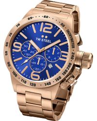 TW Steel - Cb183 Canteen Rose Gold Pvd-plated Stainless Steel Chronograph Watch - Lyst