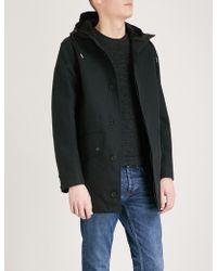 Sandro | Hooded Cotton Parka Coat | Lyst