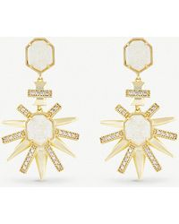 Kendra Scott - Allie Gold-plated And Iridescent Drusy Earring - Lyst
