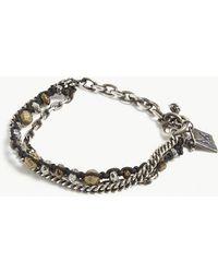 M. Cohen - Silver Beaded Chain Bracelet - Lyst