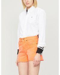 Polo Ralph Lauren - High-rise Faded Denim Shorts - Lyst