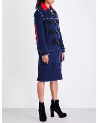 Altuzarra - Gardano Button-detail Wool Duffle Coat - Lyst