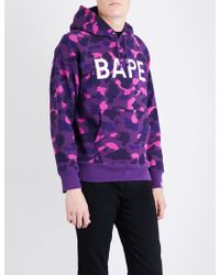 A Bathing Ape | Camouflage Ape-print Cotton-jersey Hoody | Lyst