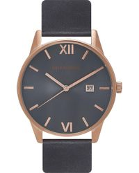Unknown | Un14da02 The Dandy Stainless Steel And Leather Watch | Lyst