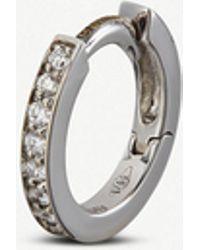 Repossi - Harvest Mini Créole 18ct White-gold And Diamond Earring - Lyst