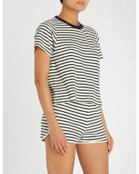 Tommy Hilfiger - Striped Cotton-blend T-shirt - Lyst