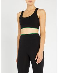 Sàpopa - Poppy Lace-trimmed Stretch-jersey Sports Bra - Lyst