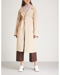 Victoria Beckham - Belted Woven-twill Trench Coat - Lyst
