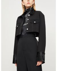Givenchy - High-neck Faux-leather Body - Lyst