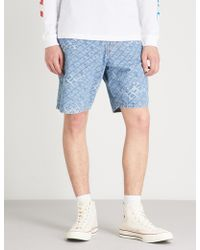 DIESEL - D-willoh Logo-jacquard Denim Shorts - Lyst