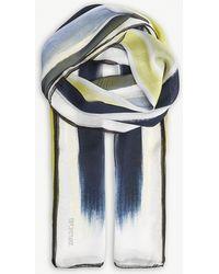 Sportmax - Stripe Silk Scarf - Lyst