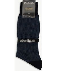 Pantherella - Blenheim Birdseye Wool-blend Socks - Lyst