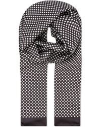 Eton of Sweden - Polka Dot Silk Scarf - Lyst