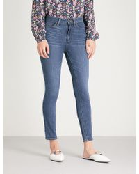 PAIGE - Hoxton Crop Skinny High-rise Jeans - Lyst