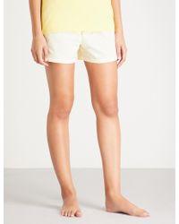 Tommy Hilfiger - Logo-print Cotton-poplin Shorts - Lyst