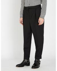 The Kooples - Slim-fit Low-crotch Wool Trousers - Lyst