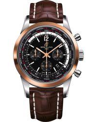 Breitling - Ub0510u4/bc26 757p Transocean Chronograph Leather Watch - Lyst