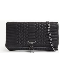 Zadig & Voltaire - Rock Quilted Leather Clutch - Lyst