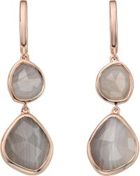 Monica Vinader - Siren Double Drop Nugget 18ct Rose Gold-plated And Onyx Earrings - Lyst