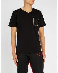 Philipp Plein - Stud-embellished Cotton-jersey T-shirt - Lyst