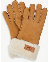 UGG - Turned-cuff Sheepskin Gloves - Lyst